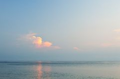 Clouds over ocean. Royalty Free Stock Images