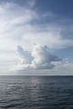 Clouds over the ocean Royalty Free Stock Photo