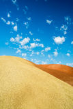 Clouds over the Painted Hills Royalty Free Stock Image