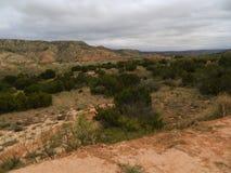 Clouds over palo duro canyon, llano estacado plains, texas Royalty Free Stock Images