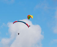 Clouds over para gliders Stock Photography