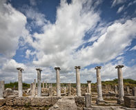 Clouds Over Perga Ruins Stock Photo
