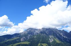 Clouds over  the Pinzgau  Mountains Royalty Free Stock Images