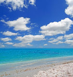 Clouds over Platamona Royalty Free Stock Photo
