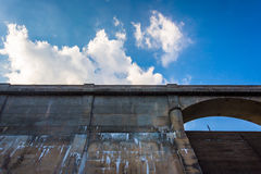 Clouds over the Prettyboy Dam in Baltimore County, Maryland. Royalty Free Stock Image
