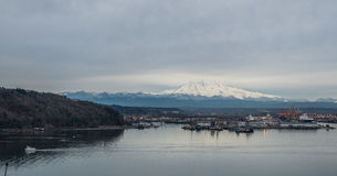 Clouds Over Rainier And Port 4 royalty free stock photography