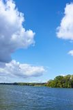 Clouds over the river Royalty Free Stock Photography