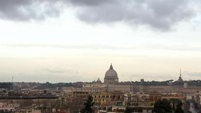 Clouds over Rome. Via del Corso. Italy. Video stock video