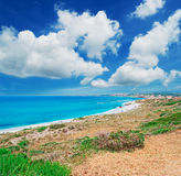 Clouds over San Giovanni beach Royalty Free Stock Photos