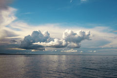 Clouds over sea. Stock Images