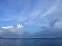 Clouds over the sea. Seascape - clouds over the sea Royalty Free Stock Photos