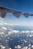 Clouds over the sea, Aerial view Stock Images
