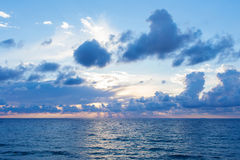 Clouds over the sea Stock Photography