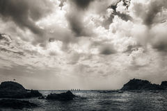Clouds over the sea Stock Images