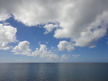 Clouds over sea, Hawaii Royalty Free Stock Images