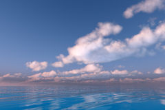 Clouds over sea Royalty Free Stock Image