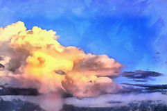 Clouds over the sea seascape sunset atmosphere Royalty Free Stock Image