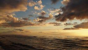 Sunset and clouds Stock Photos