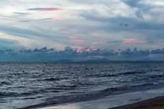 Clouds over the sea. Royalty Free Stock Photos
