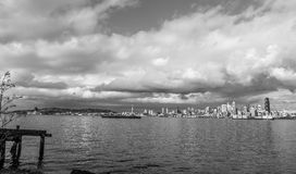 Clouds Over Seattle Skyline 5 Royalty Free Stock Images