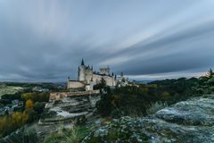 Clouds over Segovia royalty free stock photography