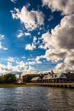 Clouds over the shore in Charleston, South Carolina. Stock Photo