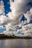 Clouds over the shore in Charleston, South Carolina. Stock Photos