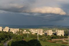 Clouds over Shumen Stock Photo