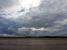 Clouds over skegness stock images