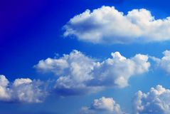 Clouds over sky Royalty Free Stock Photo