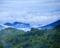 Clouds over smokies Royalty Free Stock Photos