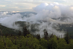 Clouds Over Smoky Mountain National Park Stock Image