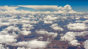 Clouds over South Africa. The cloud over South Africa is very beautiful, like a blossoming white flower blooming in the sky, full of vision of white clouds royalty free stock photo