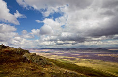 Clouds over South Ural mountains. Russia, South Ural, Kurkak mountain, near Magintogorsk city Stock Image