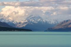 Clouds over Southern Alps, Lake Tekapo, New Zealand. Clouds over Southern Alps, Lake Tekapo, South Island of  New Zealand Stock Photography