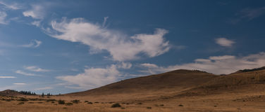 Clouds over the steppe Stock Photo