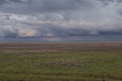 Clouds over the steppe. Royalty Free Stock Images