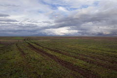 Clouds over the steppe. Royalty Free Stock Photos