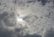Clouds over sun Royalty Free Stock Photo