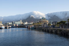 Clouds over Table Bay Mountain Royalty Free Stock Photography