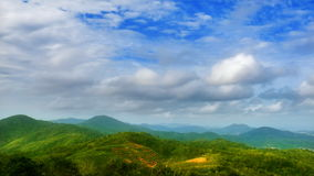 Clouds over tea plantation stock video