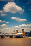 Clouds over Thames, London Royalty Free Stock Photos