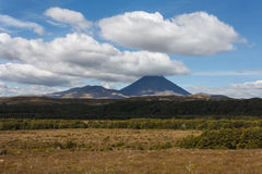 Clouds over Tongariro National Park Stock Image