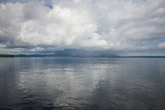 Clouds Over Tropical Melanesian Islands Royalty Free Stock Photos