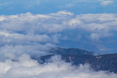 Clouds over the valley and the forest Royalty Free Stock Photography