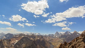 Clouds over the valley. Time Lapse. Pamir, Tajiki stock footage