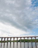 Clouds over the viaduct Royalty Free Stock Photos