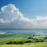 Clouds over vineyard Royalty Free Stock Images