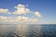 Clouds Over Water Royalty Free Stock Photos