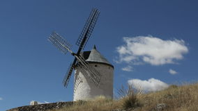 Clouds over windmills stock footage